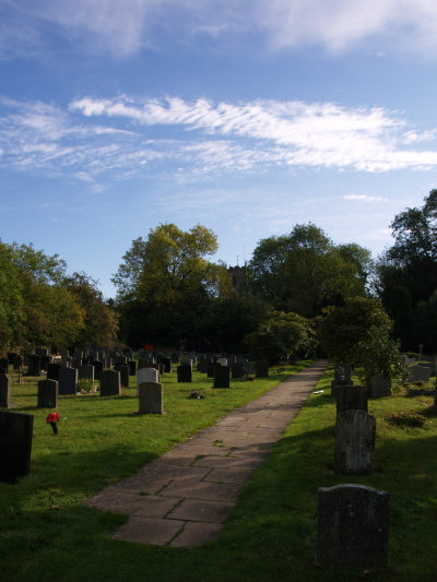 New Churchyard facing East